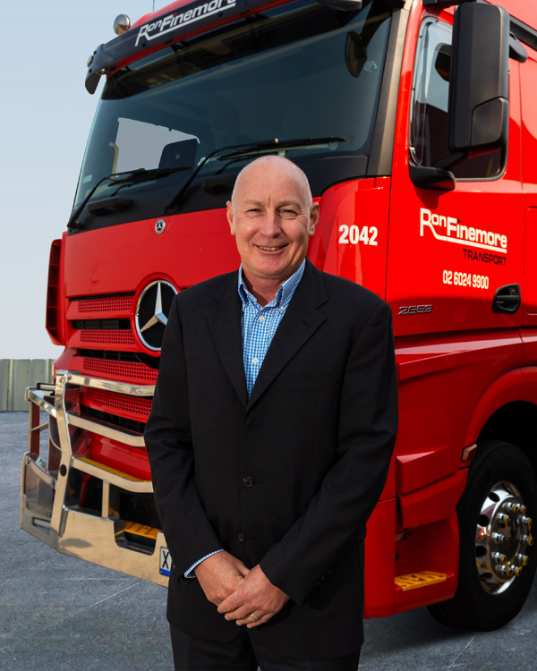 Mark Parry Ron Finemore Transport sits on the Board of Healthy Heads
